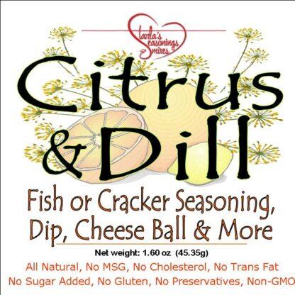Citrus Dill Seasoning Mix or Citrus Dill Dip Mix