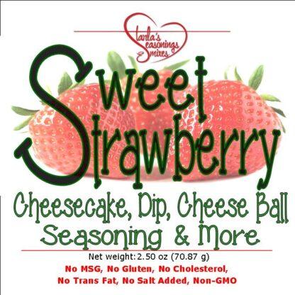 Sweet Strawberry Seasoning Mix, Sweet Strawberry Fruit Dip Mix
