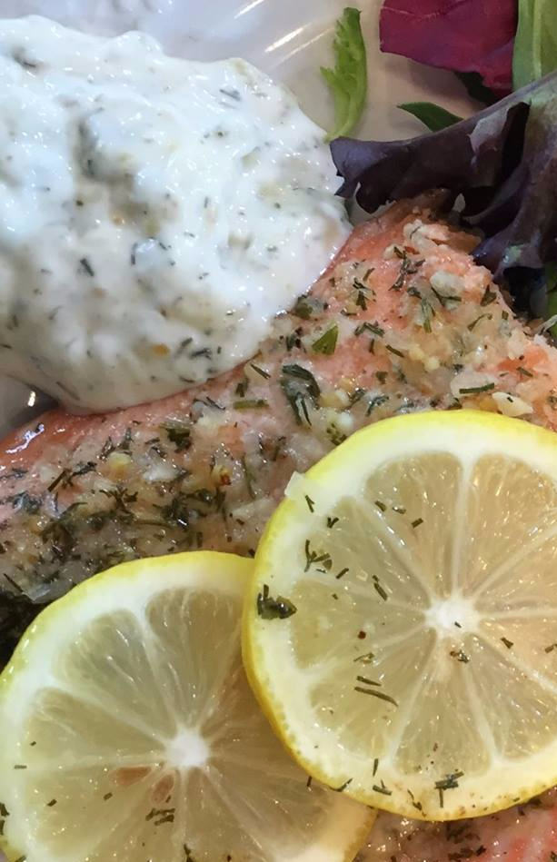 Seasoned Baked Crusted Salmon